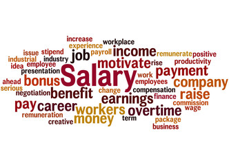 Salary, word cloud concept 9