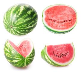 ripe watermelon set