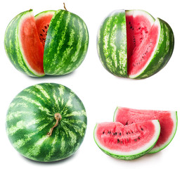 ripe watermelon set