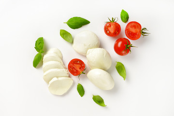 mozzarella, tomatoes and fresh basil
