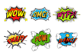 Comics bubbles for emotions and explosions