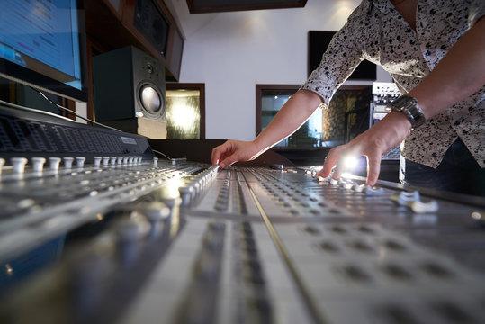 Working on soundboard