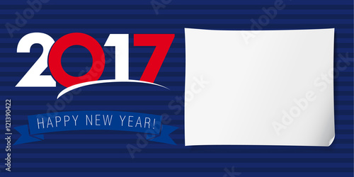 happy new year banner 2017 invitation of happy new year 2017 vector design