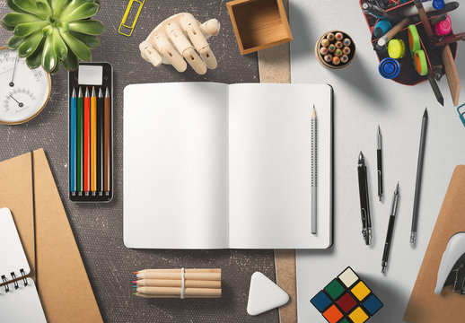 Artist's Sketchbook Mockup 1