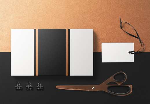 Black and Tan Stationery Mockup 1