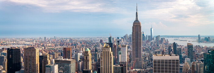 view on downtown of Manhattan, New York City
