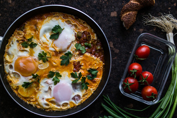 Turkish Breakfast Menemen / Omelette (Fried Eggs)
