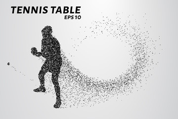Table tennis from the particles