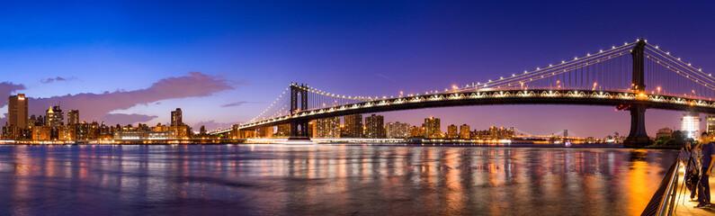 Fotomurales - Manhattan Bridge Panorama mit New York Skyline