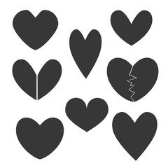 Set with Heart Icons