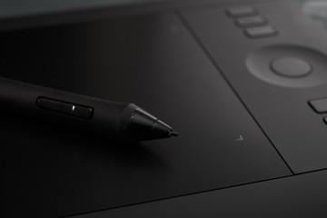 Obraz black professional graphic tablet - fototapety do salonu