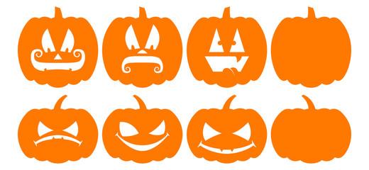 Pumpkin Silhouettes - Jack O' Lanterns