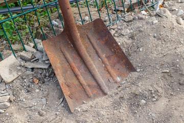 Old rusty shovel Image ID:486876007
