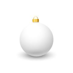 White Christmas toy on a white background.