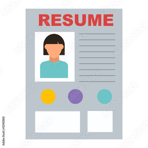 resume icon work job office symbol document design contract recruitment internet resume icon button on