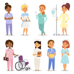 Nurses character vector set.