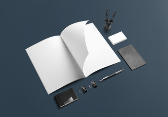 Notebook and Business Card Mockup 2