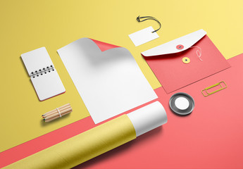 Colorful Stationery Mockup 2