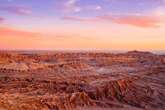 Sunset over Moon Valley, San Pedro De Atacama, Chile