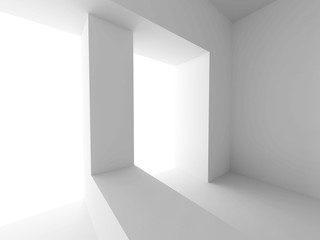 Modern Interior Background. Abstract White Architecture