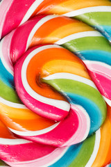 Colors of a close up lollipop