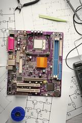 Broken motherboard in service center