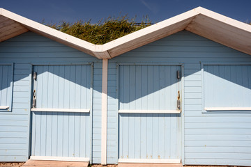 Painted Summer Beach Huts