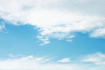 soft white cloud on blue sky