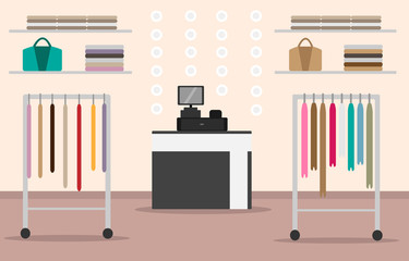 illustration of a women's clothing store