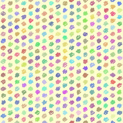 Seamless Pattern - Handwriting - Pastel