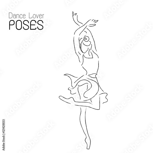 Line Drawing Dancer : Quot abstract dancer line art ballerina performance poses
