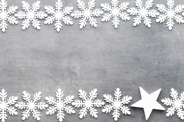 Christmas snowflakes, background in vintage style. Greeting card