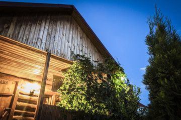 Yard wooden building