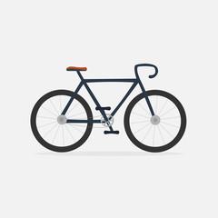 Bike icon, isolated background. Raster copy.