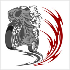 Motorcycle racer sport