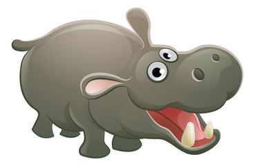 Hippopotamus Animal Cartoon Character