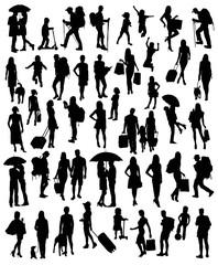 Activities Silhouette People, art vector design