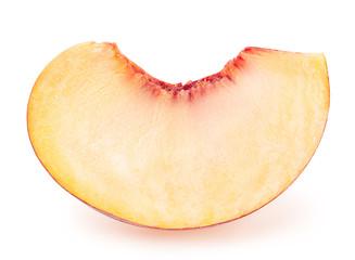peach fruit sliced isolated on white background