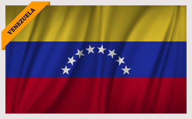 National flag of Venezuela - waving edition