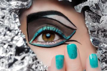 Nahaufnahme Auge - Make-up