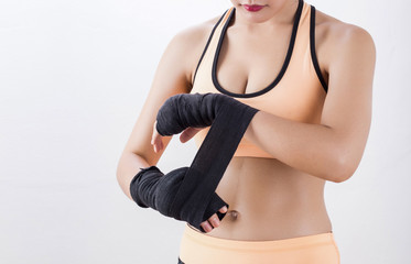 Body part of boxing Woman