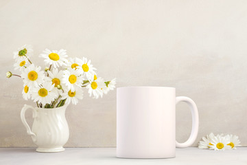 Mockup Styled Stock Product Image, white coffee mug that you can add your custom design or quote to.