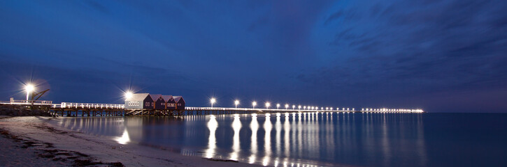 Panoramic shot of the famous Busselton Jetty, Pre-dawn.