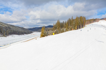 panorama of ski resort