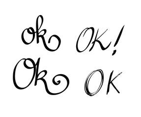 Ok calligraphic vector set