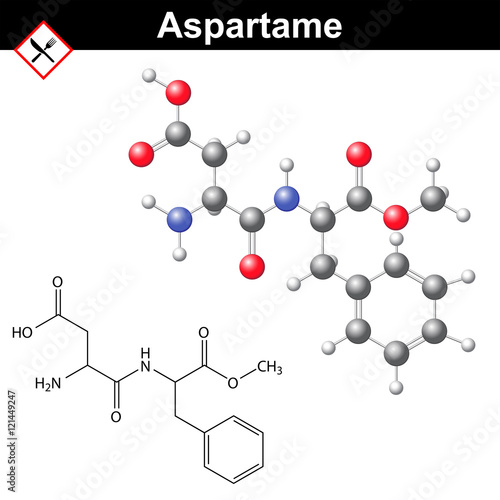 """Aspartame molecular structure"" Stock image and royalty ..."