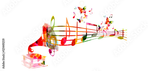 Creative Music Style Template Vector Illustration Colorful