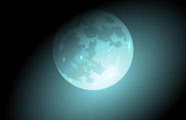 luna, luna piena, sfondo, cielo, notte
