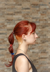 colored tail and hidden undercut hair