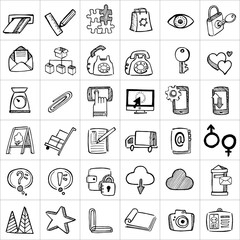 Hand drawn icons 005